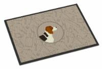 Carolines Treasures  CK2166MAT Beagle In the Kitchen Indoor or Outdoor Mat 18x27 - 18Hx27W