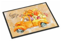 Fall Harvest Red Dachshund Indoor or Outdoor Mat 24x36