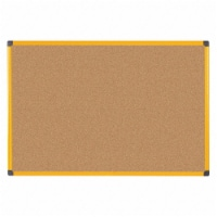 48 x 72 in. Industrial Ultrabrite Cork Bulletin Board, Natural