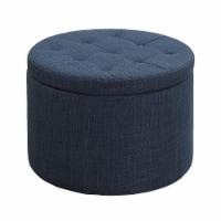 Designs4Comfort Round Shoe Ottoman - Beige - 1