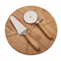 14 in. Pizza Board with 2 Utensils