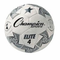 Elite Soccer Ball, White & Black - Size 4 - 1