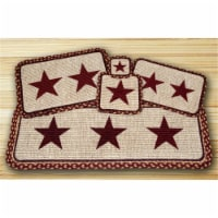 Wicker Weave Placemat, Burgundy Star