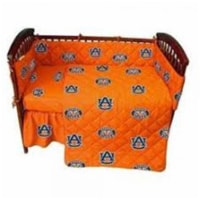 Auburn Tigers Baby Crib Fitted Sheet Pair, White - 1