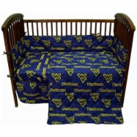 West Virginia Mountaineers Baby Crib Fitted Sheet Pair - 1