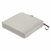 Montlake FadeSafe Square Patio Dining Seat Cushion - Heather Grey, 21 x 21 x 3 in. - 1