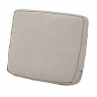 Montlake FadeSafe Patio Lounge Back Cushion, Heather Grey - 21 x 20 x 4 in. - 1