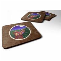 Trick or Treat Halloween Pug Foam Coaster, Set of 4 - 4