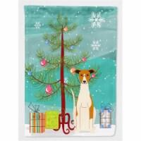 Merry Christmas Tree Whippet Flag Garden Size
