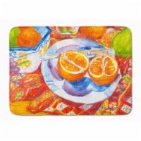 Florida Orange Sliced for Breakfast Machine Washable Memory Foam Mat - 1