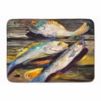 Fish on the Dock Machine Washable Memory Foam Mat