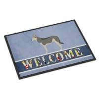 Saarloos Wolfdog Welcome Indoor or Outdoor Mat - 24 x 36 in. - 1