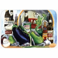 15 X 12 In. New Orleans Beers with Louisiana Spices Glass Cutting Board