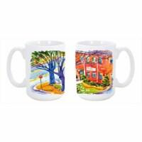 Harbour Dishwasher Safe Microwavable Ceramic Coffee Mug 15 oz. - 1
