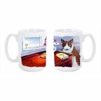 Bull Terrier Dishwasher Safe Microwavable Ceramic Coffee Mug 15 oz. - 1