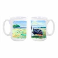 Collie Dishwasher Safe Microwavable Ceramic Coffee Mug 15 oz. - 1