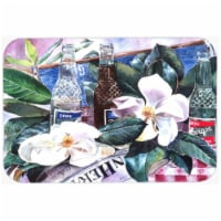 15 x 12 in. Barqs and Magnolia Glass Cutting Board, Large - 1