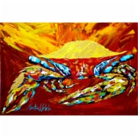 Crab Buster Brown Fabric Placemat