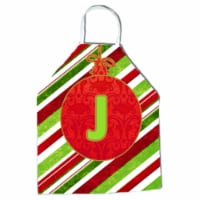 Christmas Oranment Holiday Initial Letter J Apron