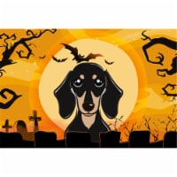 Halloween Smooth Black And Tan Dachshund Fabric Placemat