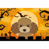 Halloween Chocolate Brown Poodle Fabric Placemat