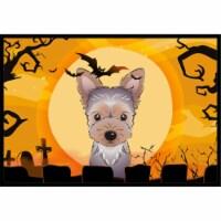 Halloween Yorkie Puppy Indoor & Outdoor Mat, 18 x 27 in. - 1