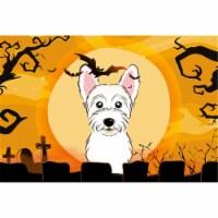Halloween Westie Fabric Placemat