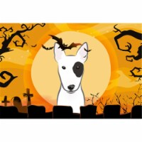 Halloween Bull Terrier Fabric Placemat