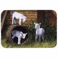 Goats by Daphne Baxter Glass Large Cutting Board