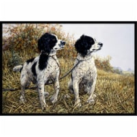 Two Springer Spaniels by Michael Herring Indoor or Outdoor Mat, 18 x 27 - 1
