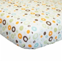 Scribbles Multicolor Circles Fitted Crib Sheet - 1