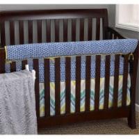 Zebra Romp Fitted Crib Sheet - 1
