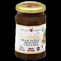 Organic Farming Nocciolata Organic Hazelnut Spread with Cocoa & Milk - 9.52 oz