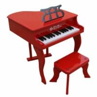 Schoenhut Toy Piano 3005R 30 key Carolina Red Fancy Baby Grand with Bench