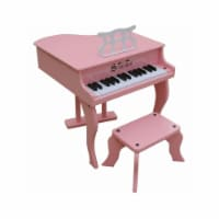 Schoenhut Toy Piano 3005P 30 key Pink Fancy Baby Grand with Bench