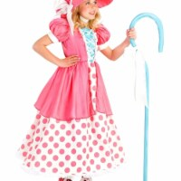 Princess 409977 Girls Polka Dot Bo Peep Child Costume - Large - 1