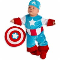 Princess 410350 Marvel Captain America Infant Costume - Newborn