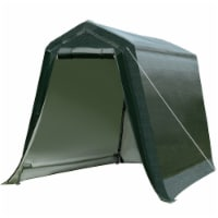 Gymax 6'x8' Patio Tent Carport Storage Shelter Shed Car Canopy Heavy Duty Green - 1 unit