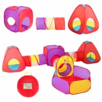 Costway 7pc Kids Ball Pit Play Tents & Tunnels Pop Up Baby Toy Gifts - 1 unit