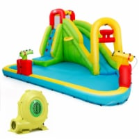 Gymax Outdoor Inflatable Splash Water Bounce House Jump Slide w/Blower - 1 unit