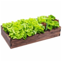 Gymax Wooden Raised Garden Bed Kit - Elevated Planter Box For Growing Herbs Vegetable - 1 unit