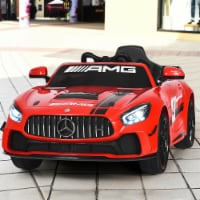 Costway 12V Mercedes Benz AMG Licensed Kids Ride On Car with Remote Control Silver - 1 unit