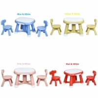 Costway Kids Table and 2 Chair Set w/ Storage Bins for Children Drawing Playing - 1 unit