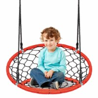 Costway Spider Web Chair Swing w/ Adjustable Hanging Ropes Kids Play Equipment BlueOrange - 1 unit