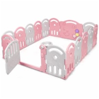 Gymax Babies Kids Playpen Activity Center Safety Play Yard w/ Music Box - 1 unit