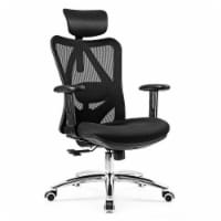 Gymax High Back Mesh Office Chair Adjustable Lumbar Support&Headrest Home Study Black - 1 unit