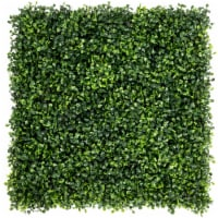 Costway 12 PCS 20''x20'' Artificial Boxwood Plant Wall Panel Hedge Privacy Fence