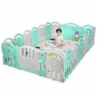 Gymax 18-Panel Kids Safe Playpen Baby Activity Center Playard Home - 1 unit