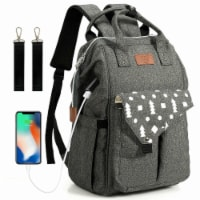 Gymax Diaper Bag Waterproof Baby Nappy Backpack w/USB Charging Port - 1 unit