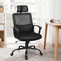 Costway Mesh Office Chair High Back Ergonomic Swivel Chair w/ Lumbar Support & Headrest - 1 unit